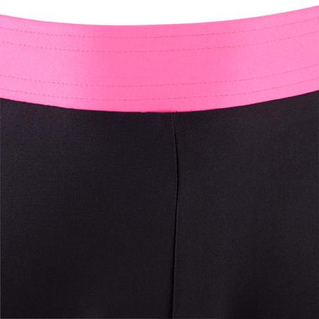 Corsaire respirant fille gym noir et rose