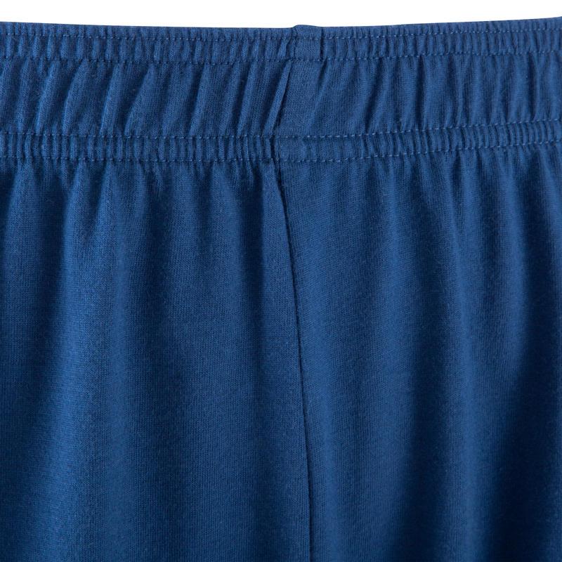 Short basic gym douce, yoga, pilates, homme, bleu