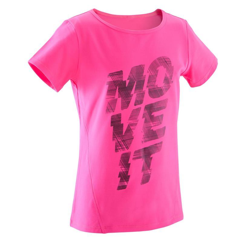 821bcacec Camiseta estampada BREATHE niña gimnasia rosa