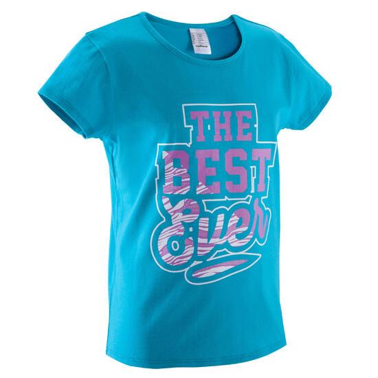 Meisjes T-shirt met korte mouwen en opdruk voor gym - 392895