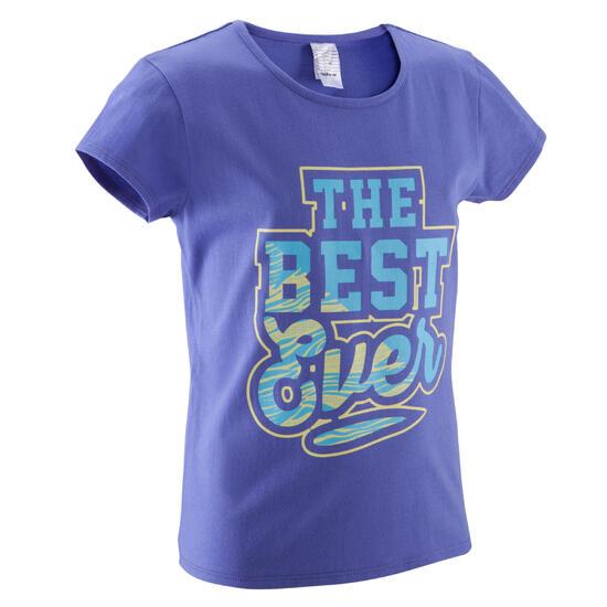 Meisjes T-shirt met korte mouwen en opdruk voor gym - 392911