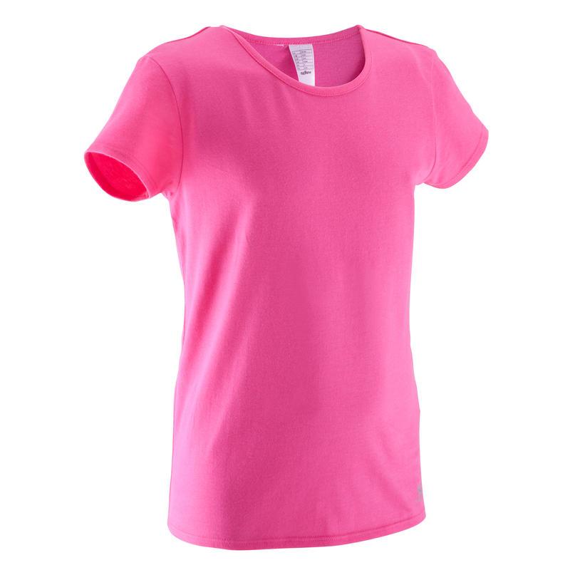 Girls' Short-Sleeved Gym T-Shirt - Pink