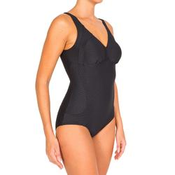 Kaipearl Women's Body-Sculpting One-Piece Swimsuit – Black