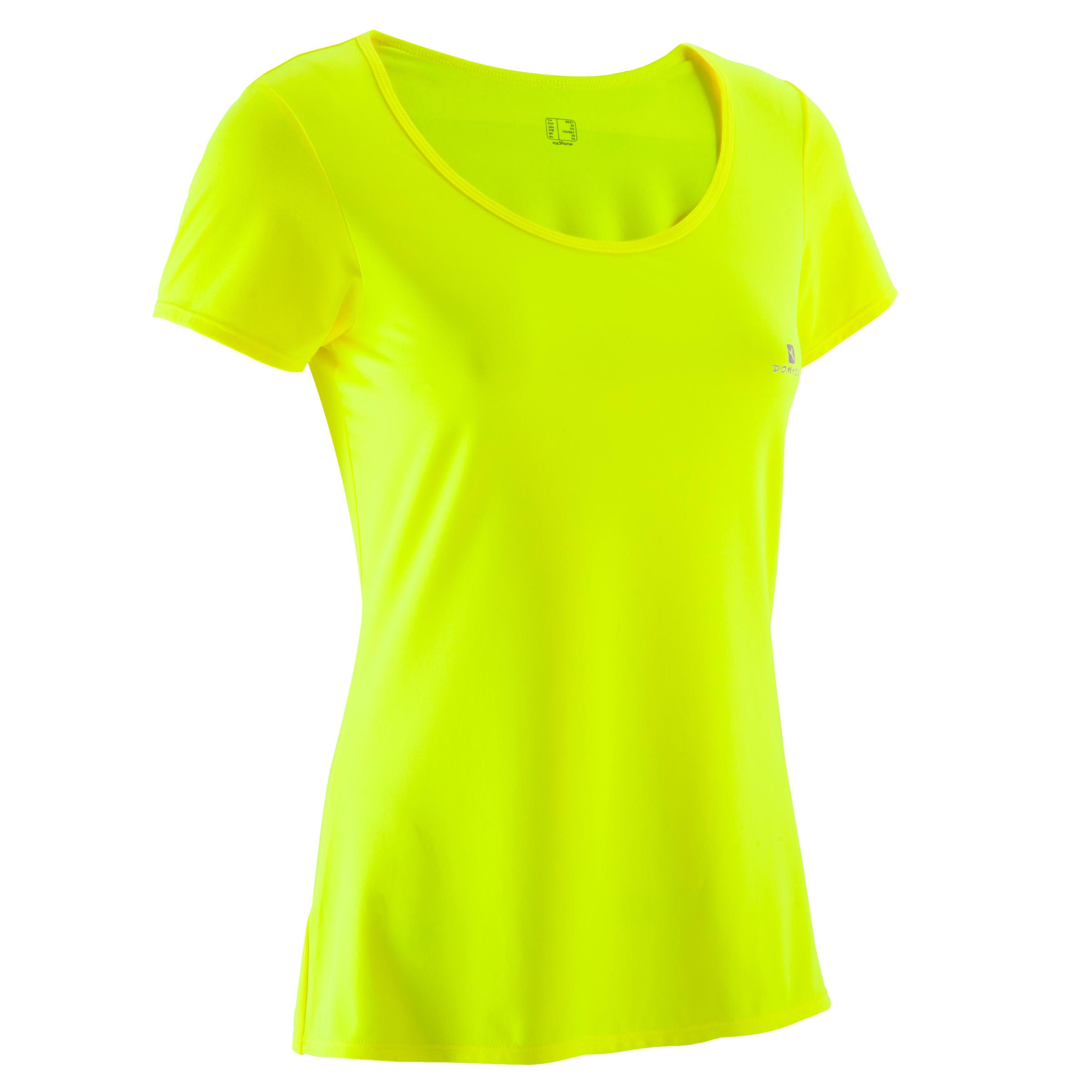 Tee Shirt Jaune Fluo Femme
