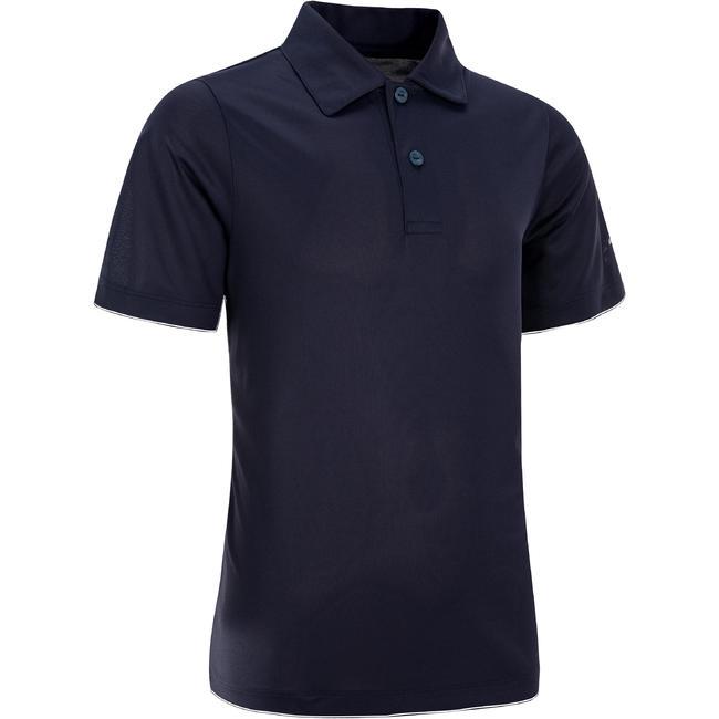 100 Kids' Tennis Polo - Navy Blue