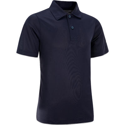 100 Kids' Tennis Polo - Navy Blue