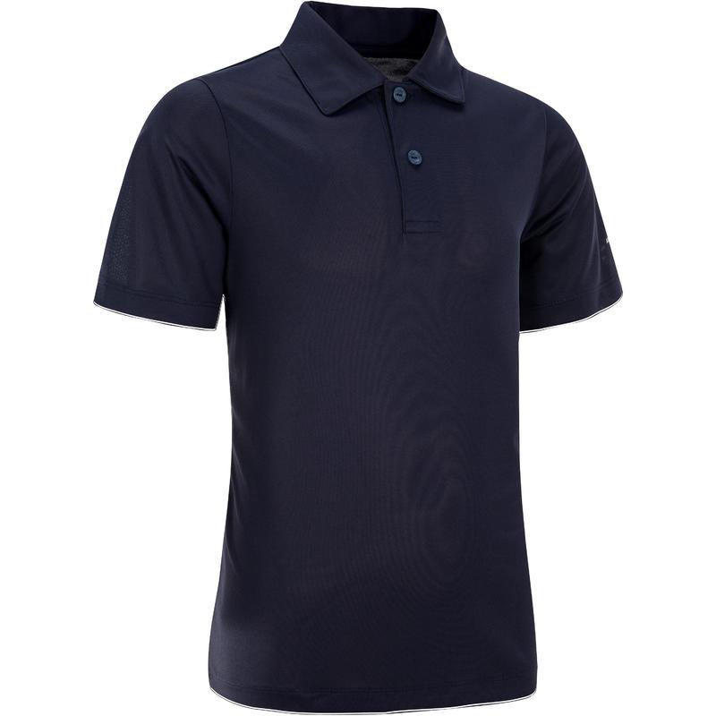 Essential Kids' Tennis Badminton Table Tennis Padel Squash Polo Shirt - Navy