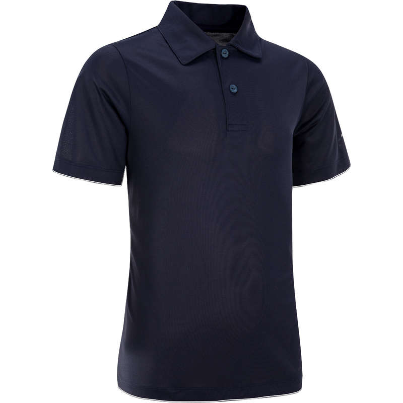 JUNIOR WARM APPAREL Squash - Kids' Essential Polo - Navy ARTENGO - Squash Clothing