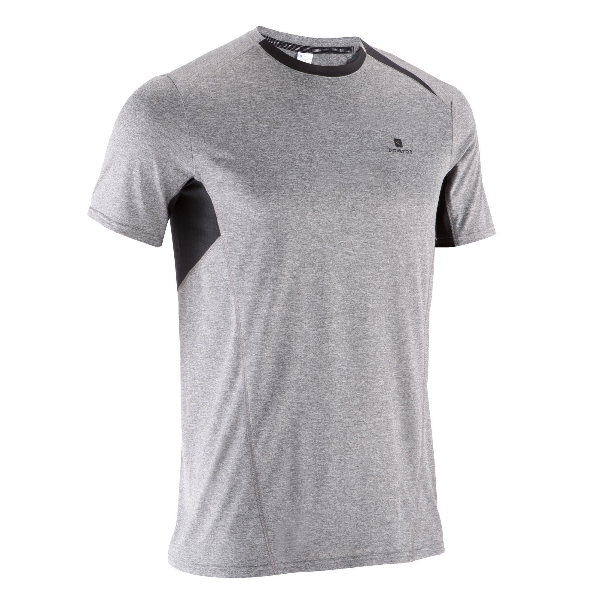 tee shirt light breathe fitness homme gris chin clair imprim domyos by decathlon. Black Bedroom Furniture Sets. Home Design Ideas