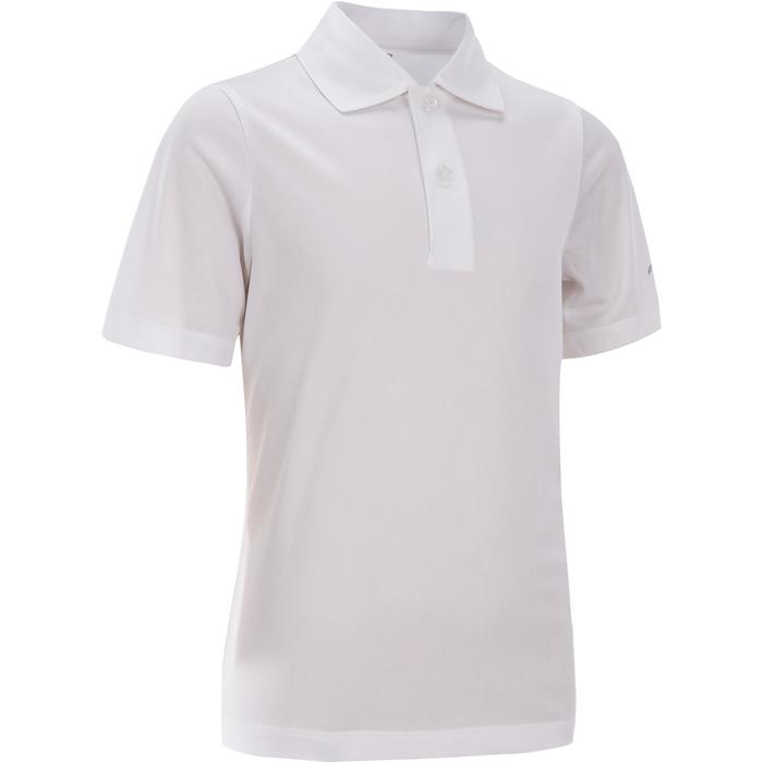 Poloshirt 100 Tennispolo Kinder weiß