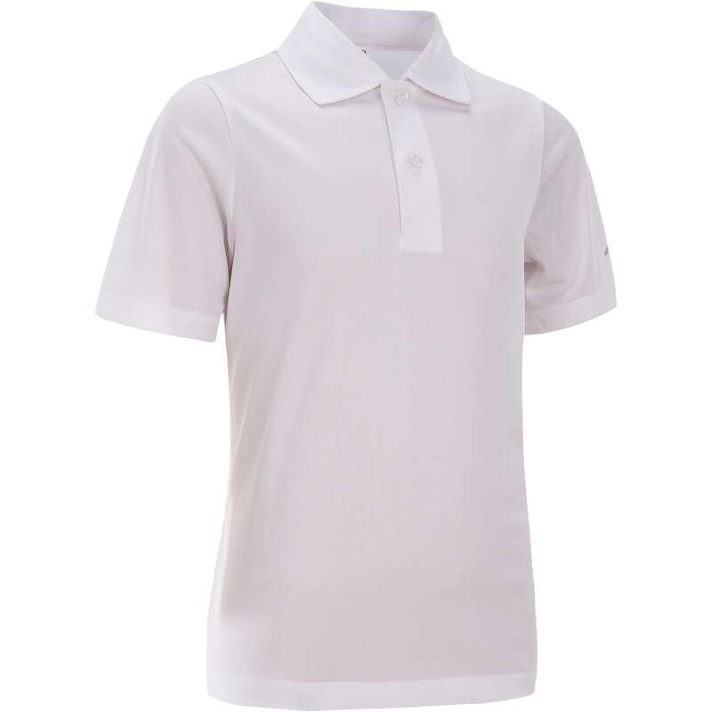 JUNIOR WARM APPAREL Squash - Kids' Essential Polo - White ARTENGO - Squash Clothing
