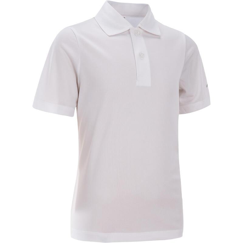 兒童款網球Polo衫-白色