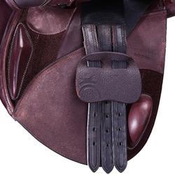 "Silla polivalente cuero arzón ajustable equitación caballo PADDOCK marrón 17""5"