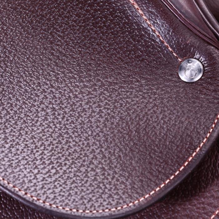 """Selle polyvalente en cuir à arçon réglable équitation cheval PADDOCK 17""""5 - 39468"""