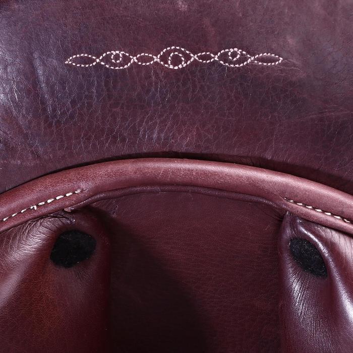 """Selle polyvalente en cuir à arçon réglable équitation cheval PADDOCK 17""""5 - 39469"""