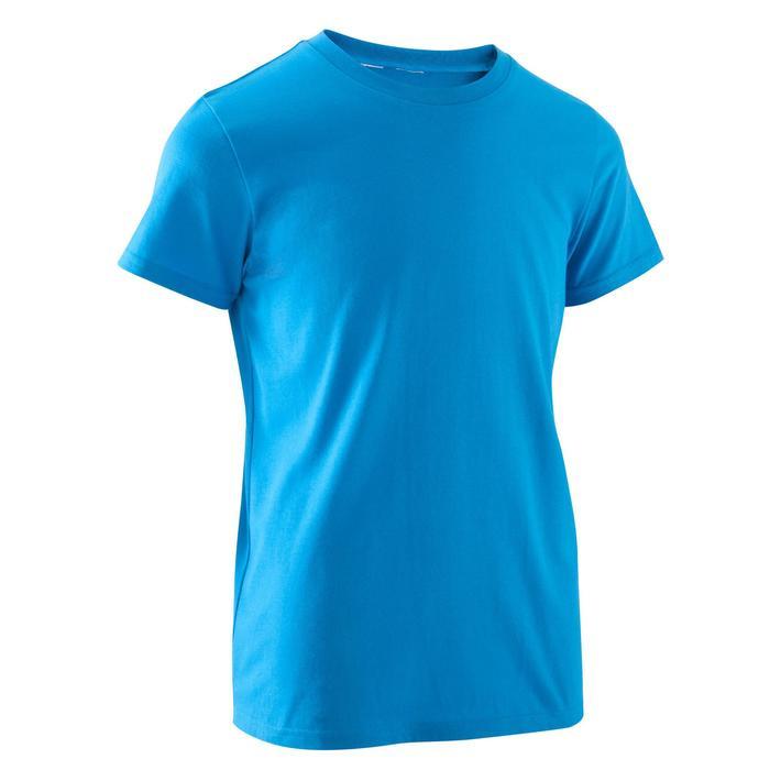 Camiseta de Manga Corta Gimnasia Domyos Niño Blanco Domyos  ce5310d64c33