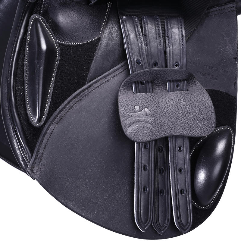 Paddock 17.5_QUOTE_ All-Purpose Horse Riding Saddle With Adjustable Tree - Black