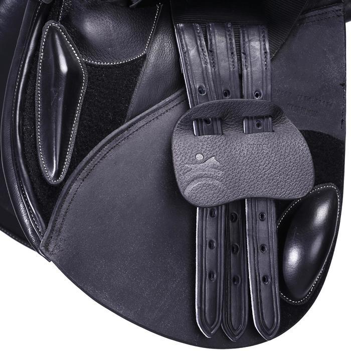 """Selle polyvalente en cuir à arçon réglable équitation cheval PADDOCK 17""""5 - 39598"""