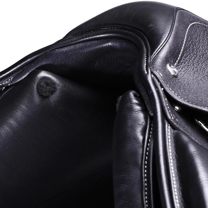 """Selle polyvalente en cuir à arçon réglable équitation cheval PADDOCK 17""""5 - 39602"""