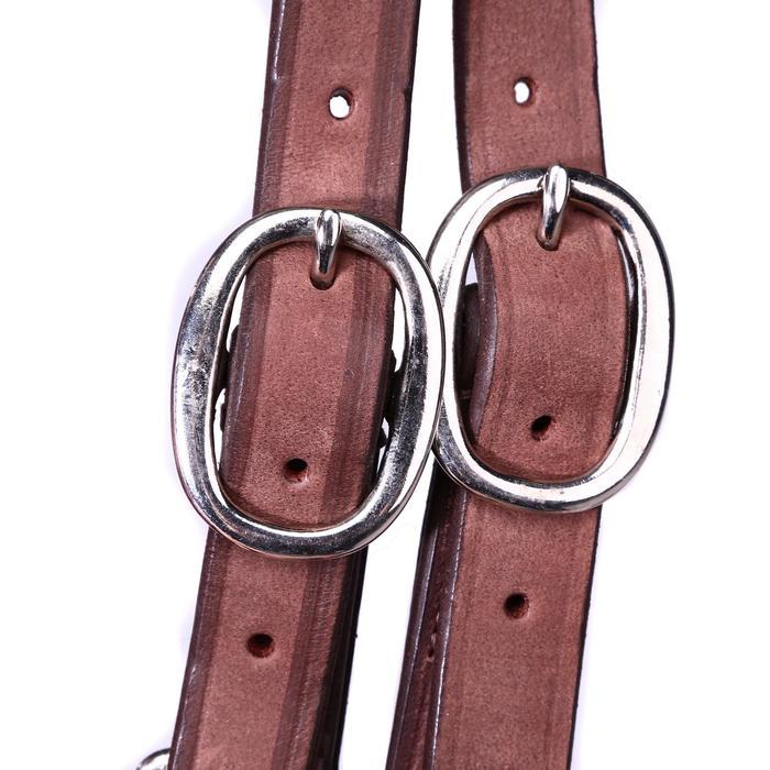 Bridon licol + rênes équitation randonnée ESCAPE marron - taille cheval - 39703