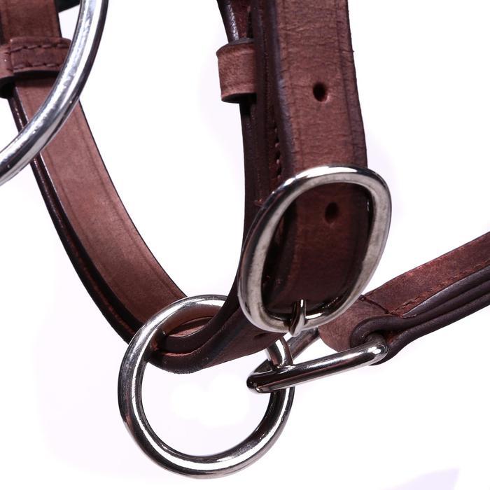 Bridon licol + rênes équitation randonnée ESCAPE marron - taille cheval - 39704