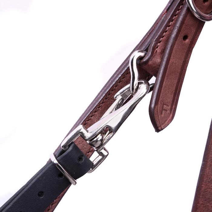 Bridon licol + rênes équitation randonnée ESCAPE marron - taille cheval - 39706