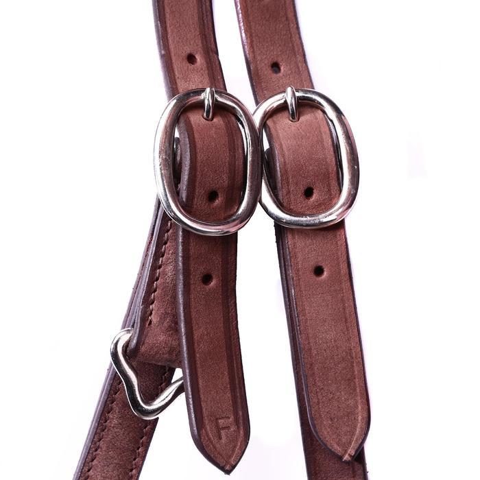 Bridon licol + rênes équitation randonnée ESCAPE marron - taille cheval - 39707