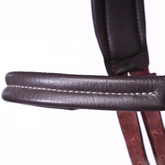 Bridon licol + rênes équitation randonnée ESCAPE marron - taille cheval - 39708