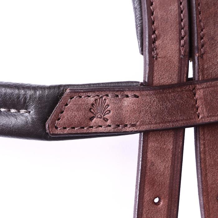 Bridon licol + rênes équitation randonnée ESCAPE marron - taille cheval - 39709