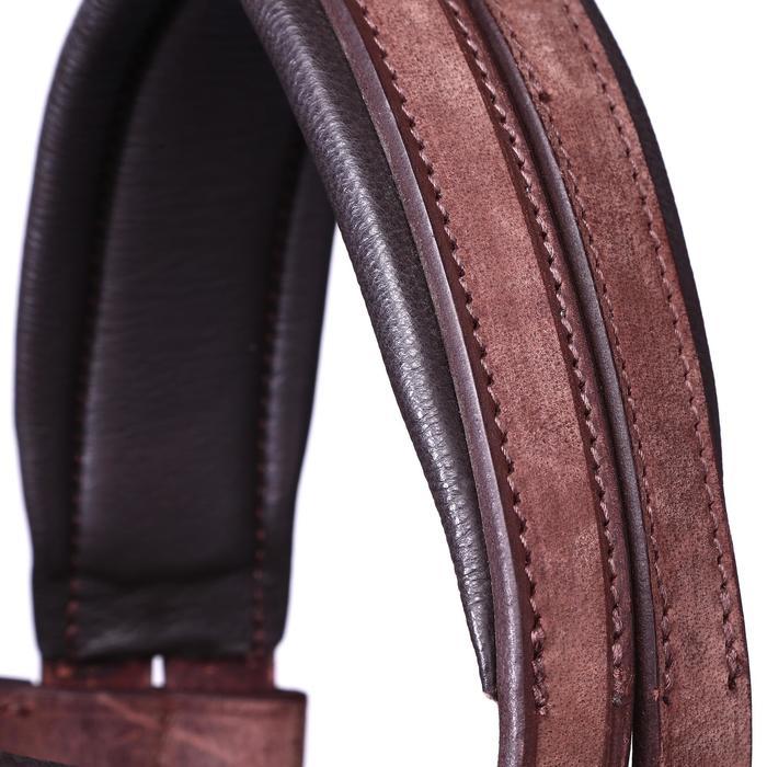 Bridon licol + rênes équitation randonnée ESCAPE marron - taille cheval - 39710