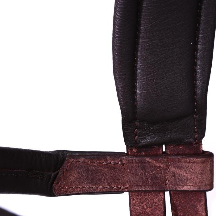 Bridon licol + rênes équitation randonnée ESCAPE marron - taille cheval - 39711