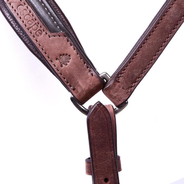 Bridon licol + rênes équitation randonnée ESCAPE marron - taille cheval - 39712