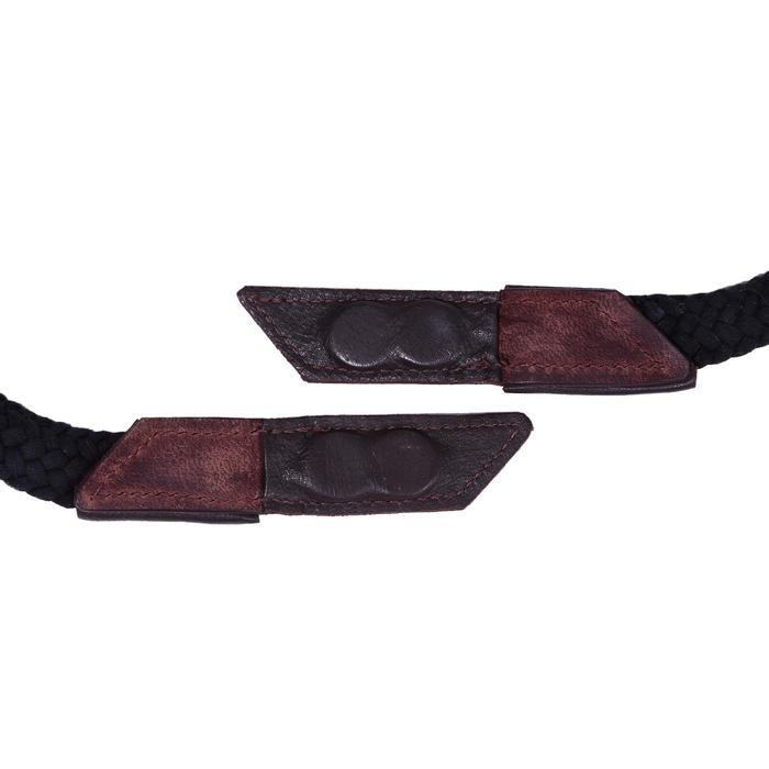 Bridon licol + rênes équitation randonnée ESCAPE marron - taille cheval - 39714