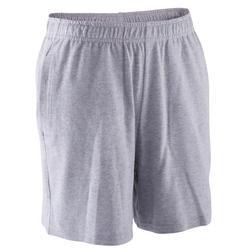 Gymshort jongens grijs
