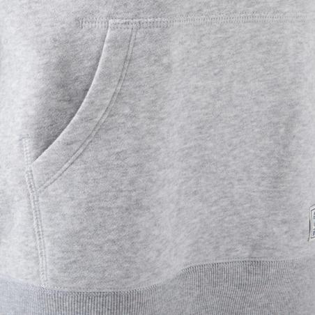Boys' Gym Hooded Sweatshirt - Grey