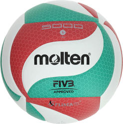 Volleybal 5000 maat 5 groen/rood