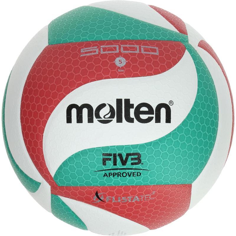 Ballon de volley-ball Molten 5000 vert rouge
