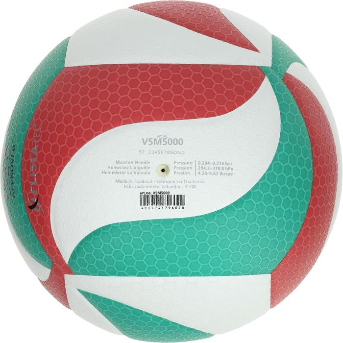 Ballon de volley-ball Molten 5000 vert rouge - 397914