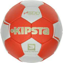 Balón de balonmano adulto H500 talla 3 rojo blanco