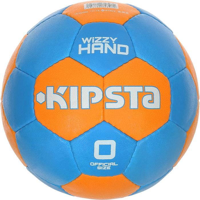 Balón de balonmano para niños Wizzy Hand talla 0 azul claro naranja