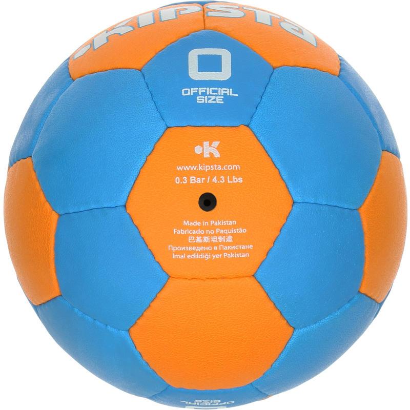 Balón de handball para niños Wizzy Hand talla 0 azul claro naranja