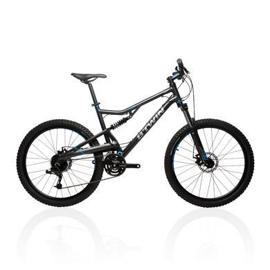 Rockrider 500 Suspension Mountain Bike - Grey