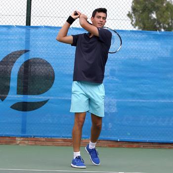 Poloshirt Dry 100 Tennispolo Herren marineblau