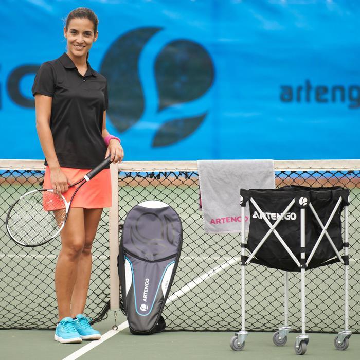 Ballkorb mit Rollen für Tennisbälle schwarz