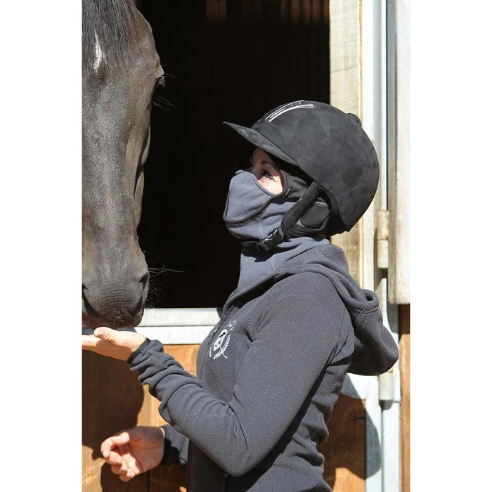 Pasamontañas Equitación Fougaza Niño Gris Oscuro de Fibra Polar