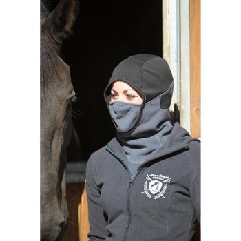 Fleece bivakmuts voor volwassenen ruitersport donkergrijs