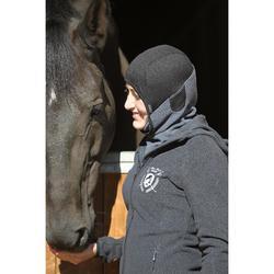 Cagoule en polaire équitation enfant gris foncé