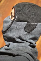 Fleece bivakmuts voor volwassenen, ruitersport, zwart - 400776