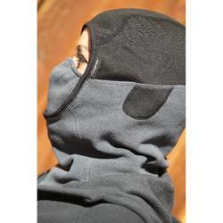 Kopfhaube Fleece Kinder dunkelgrau