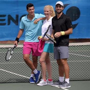 Herenshort Essentiel marineblauw 100 tennis/badminton/tafeltennis/padel/squash - 401014